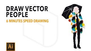 Adobe Illustrator Tutorial - How to Draw Vector People