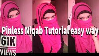 Pinless Niqab Tutorial easy way || Nihalo Fashions
