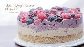 "Vegan Cherry Banana Raw ""Cheesecake"""