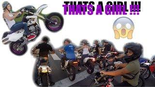 GIRL WHEELING A BIKE LIKE A PRO !!!!!!!