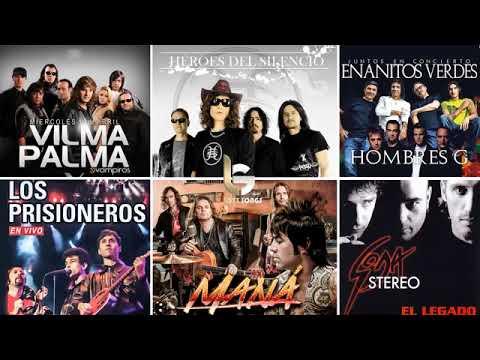 Mana Soda Stereo Enanitos verdes Prisioneros Hombres G EXITOS Clasicos Del Rock En Español