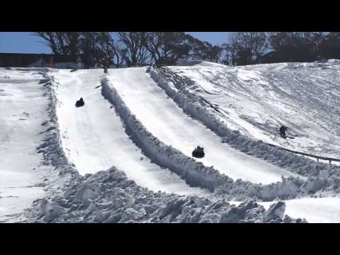 Snow Tube Fun @ Tube Town in the Perisher Valley (New South Wales)