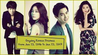 Ongoing Korean Dramas From Jan 23, 2017 to Jan 29, 2017