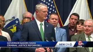 Gov. Baker signs criminal justice reform bill