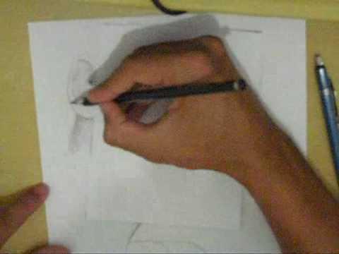 Desenho Feito a Lápis Por Bruno Paes Todas Etapas.