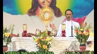 Healing Prayer By Rev.Fr.Anil Kiran Fernandes SVD at Divine Call Centre Mulki