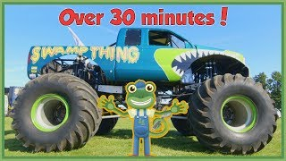 Gecko Meets a Monster Truck and More Vehicles For Children | Gecko