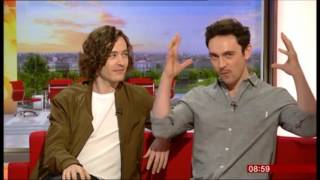 George Blagden and Alexander Vlahos on BBC Breakfast talking about Versailles 3rd June 2016