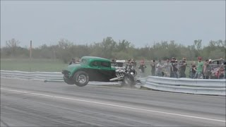 Street Outlaws Chuck death trap vs a Hot Rod at No Prep Mayhem