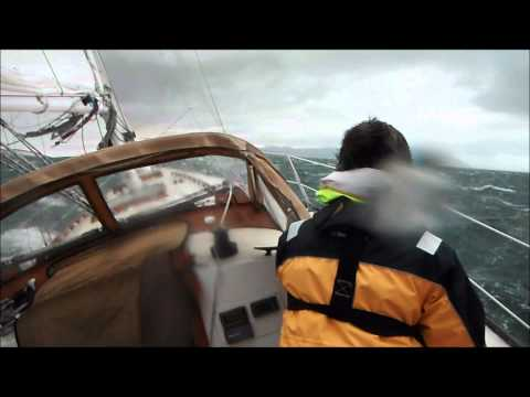 high wind sailing knockdown extreme squall intense heeling sailboat wet wild 11 11 11