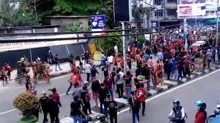 Demo massa dan Keributan di Pontianak, 20 Mei 2017