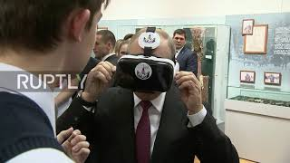 'Is this the real life? Is this just fantasy?' – Putin takes VR goggles for spin