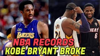 7 NBA Records Kobe Bryant Has BROKEN! Best Kobe NBA Records! The Black Mamba!