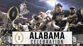 Watch Alabama celebrate another national championship