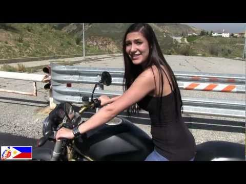 How to ride a Motorcycle Tutorial video demonstrated by a real Biker Chick