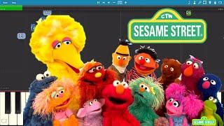 Sesame Street - The Alphabet Song Piano Tutorial