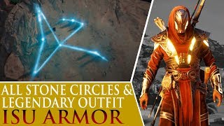 Assassin's Creed: Origins - Isu Armor & All Stone Circles (Bayek's Promise)