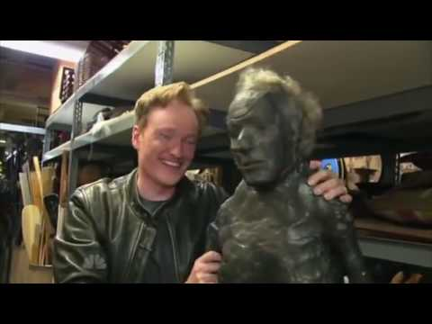 Conan O Brien visits the Universal Studios Prop Warehouse 2009