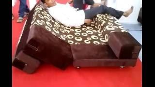 Zig zag sofa cum bed
