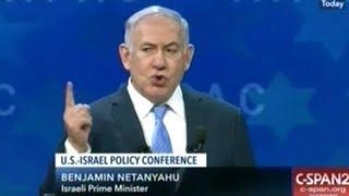 """""""We Must Stop Iran! We Will Stop Iran!"""" Netanyahu 2018 AIPAC Speech"""