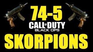 Black Ops: 74-5 Dual Wield Skorpion Gameplay! (Domination on Hanoi)