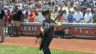 Yuto Miyazawa  Performs the National Anthem at Dodger Stadium
