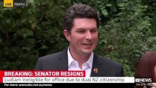 Scott Ludlam announces his resignation