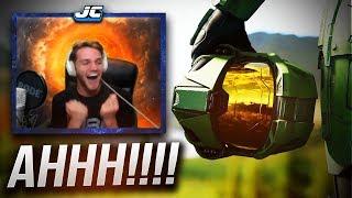 "HALO INFINITE REACTION... Grown Man Physically Loses It. (""Halo Infinite Trailer Reaction"" E3 2018)"