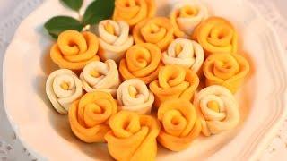 Baked Rose Flower Cookies / 烤玫瑰花型饼干