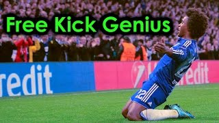 Willian - Chelsea FC - Free Kick Genius | HD