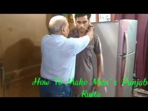 HOW TO CUTTING AND SWEING MAN'S PUNJABI KURTA