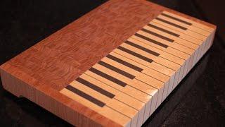 End Grain Piano Cutting Board
