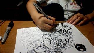 Matryoshka Miku and Gumi speed drawing