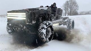 650hp Duramax GoCart testing in the snow