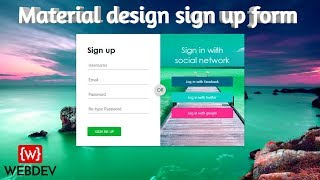 How to create signup form in html