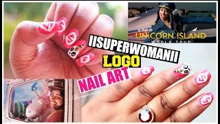 IISUPERWOMANII Logo Inspired Nail Art | Unicorn Nails for #AT2UI | Indian Youtuber