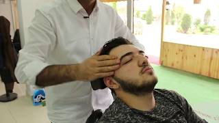 ASMR Turkish Barber Head Face and Back Massage 45