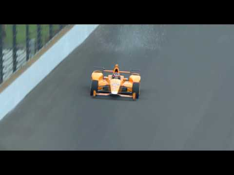 Fernando Alonso accidentally vaporizes two birds on IMS doing test laps for the Indy 500