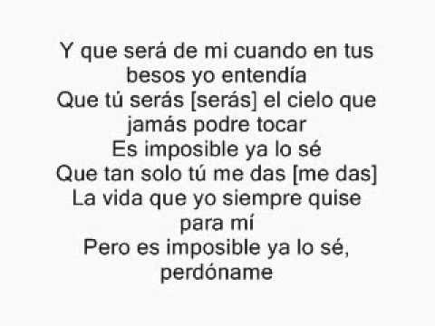 Franco De Vita .ft Alejandra Guzman Tan Solo Tu Letra Lyrics official