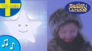 Blinka lilla stjärna där - Barnvisor från Busigt Lärande på svenska - 70 min