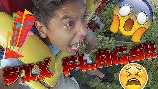 POOPING MY PANTS AT SIX FLAGS!!!!! (VLOG)