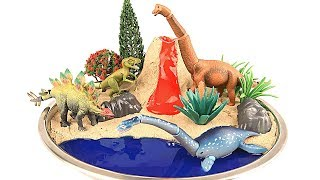 DIY VOLCANO ERUPTION. Learn Dinosaurs Volcano Science Kit for Kids. Takara Tomy Dinosaur Toys~
