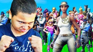 1V1 MY LITTLE BROTHER VS SPOILED RICH KID WHO HAS EVERY SKIN IN THE GAME! FORTNITE FUNNY MOMENTS!!