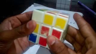 How to solve a robic.সূত্র সহ রুবিক্স কিউব মিলানো।