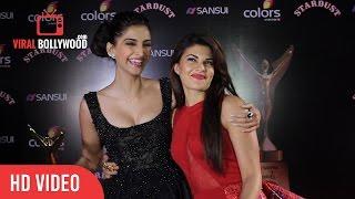 Sonam Kapoor & Jacqueline Fernandez at Stardust Awards 2014