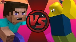MINECRAFT STEVE vs ROBLOX ROBLOXIAN! REMATCH! Cartoon Fight Club Episode 135