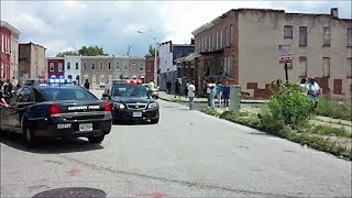 BALTIMORE RAW DAYTIME HOOD FOOTAGE /  POLICE VS RESIDENTS