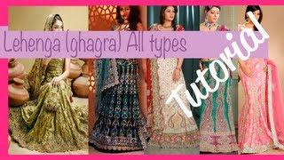☁ How to make a lehenga (ghagra) ♥  All types ♥