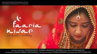 Beautiful Indian Muslim Wedding - Nikkah, Faaria & Nisar | Focuz Studios™