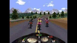 Happy Fun Play Game ROADRASH - GamePlay Road Rash in PC Win 7 On Air